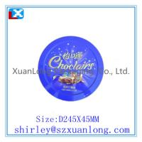 Wholesale Big Round Shape biscuit tin box from china suppliers