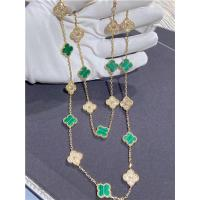 Wholesale 18K Yellow Gold Van Cleef And Arpels Vintage Alhambra Necklace With Diamond And Malachite from china suppliers