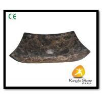 China Xiamen Kungfu Stone Ltd supply Dark Empeardor Marble Sink For Indoor Kitchen,Bathroom for sale