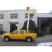 Quality Truck Mounted Scissor Working Platform Double Mast For Wall Cleaning for sale