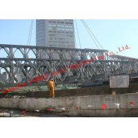 China HD200 Double Row Deck Type Modular Steel Bailey Bridge Hoisting Installation In Site for sale