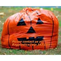 Wholesale Fancy Gaint Halloween Leaf Trash Bag, Colorful Plastic Leaf Trash Bag For Advertisement, Plastic Die Cut Bags For Hallow from china suppliers
