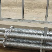 """Quality Hot - galvanized steel Greenhouse heating pipes with wings , 5/4"""" for sale"""