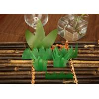 Wholesale Disposable Anti-Bacterial Baran Sushi Grass , Baran Plastic Leaves For Decoration from china suppliers