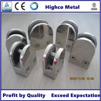 Wholesale Stainless Steel Middle D Shape Flat Glass Clamp 63x45mm Fit 10.76-12.76mm Glass for Glass Railing and  Handrail from china suppliers