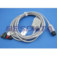 Wholesale 2.0m Gray ECG Patient Cable , Electrodes And Leads Round 6 PIN Connector from china suppliers