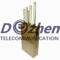 China Hand - Held Mobile Phone Signal Jammer R + 25dBm Per Band 400g Weight on sale