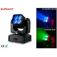 Wholesale 4PCS*12W RGBW Zoom Wash Beam Moving Head Light High Brightness  X-88A from china suppliers