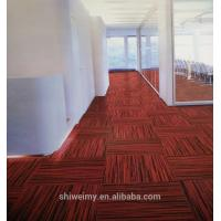 China Chine made multi level loop striped Nylon carpet tile for sale