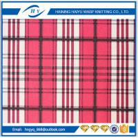 Wholesale Fashion  Printed Fleece Fabric  Plaid Fleece Fabric For Blankets from china suppliers