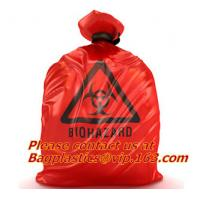 Wholesale HDPE/LDPE Plastic Strength Red Black Biohazard Waste Garbage Bag on roll Printed noted from china suppliers