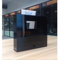 Quality White Acrylic Retail Window Displays For Bluetooth Speaker Laser Engraving for sale