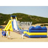 Wholesale Yellow / Blue Giant Commercial Inflatable Slide Giant Adult Inflatable Slide from china suppliers