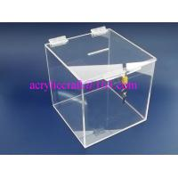 Wholesale Cube Shape acrylic donation box / vote box / suggestion box with lock from china suppliers