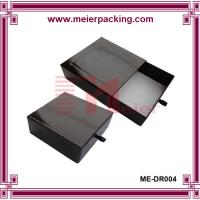 Wholesale Black gift paper drawer box with leather tie, gift packaging box for tea ME-DR004 from china suppliers