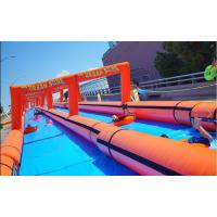 Wholesale Orange 1000 Ft Giant Inflatable Slide With Double - Tripple Stitch from china suppliers