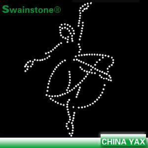 China Custom rhinestone gymnastics transfers, bling rhinestone transfers gymnastics, wholesale g on sale