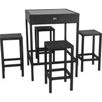 Wholesale Bar table chair rattan outdoor furniture set from china suppliers