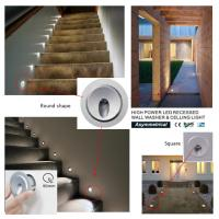 Buy cheap High Power 3W Mini Recessed LED Wall Lights IP65 Waterproof for  Stair and Celling from Wholesalers