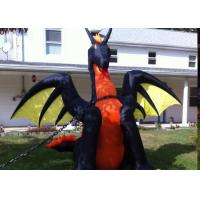 Wholesale Halloween Decoration 9 Ft. H Projection Inflatable Fire / Ice Dragon With Wings from china suppliers