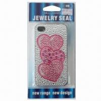 Wholesale Sticker for iPhone 4, with Heart Design, Available in Plastic Case, Safe and Nontoxic from china suppliers