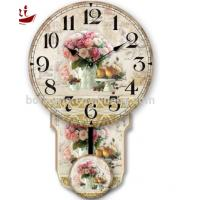 Wholesale Colorful rose and fruit rice Luxury Exquisite Home Decoration Modern white dial canvas large decorative clock faces from china suppliers