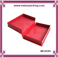 Wholesale Qualify Clamshell Rigid Paper Box/Hinged lid set up box/Red Clamshell Paper Box ME-SC001 from china suppliers