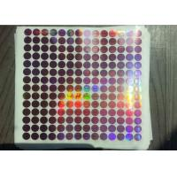 China Gold Security Silvery Anti Counterfeit Label , 3D Hologram Stickers PET Film Material on sale