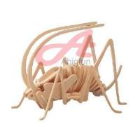 Wholesale woodcraft construction kit insect wooden toy Cricket from china suppliers