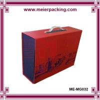 Wholesale Custom rigid handle wine box, durable double bottle wine packaging box ME-MG032 from china suppliers