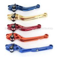 China CNC Milled Motorbike Brake Levers / Long Style Clutch And Brake Levers For Street Bikes on sale