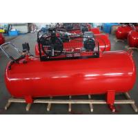 Direct Belt Driven Reciprocating Air Compressor , Portable Piston Type Diesel