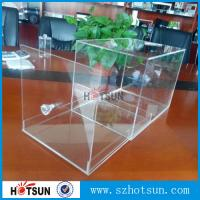 Quality 2016 New design acrylic shoe box/clear shoe box, Custom Shoe Box Manufacturer for sale