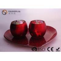 Wholesale Set Of 2 Portable Red Tealight Holders Brightness For Dinner Decoration from china suppliers