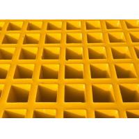 Wholesale High Strength Fiberglass Walkway Grating , Grey Concave Surface FRP Molded Grating from china suppliers