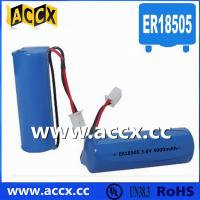 Wholesale 4000mAh 3.6V ER18505 lisoci2 battery for heat meter, water meter from china suppliers