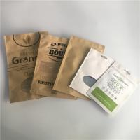 China Scrub Packaging Customized Paper Bags Aluminum Foil Stand Zip Lock Kraft Paper Mylar Type on sale
