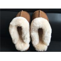 Wholesale Ladies Countess Sheepskin Slippers Chestnut Deluxe Ladies Sheepskin slipper brown from china suppliers