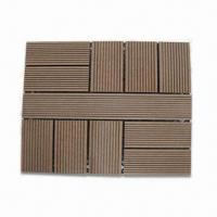 Wholesale Environment-friendly Interlock Tiles, Made of Wood Plastic Composite from china suppliers