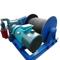 China industrial workshop use motor driven wire rope electric crane trailer high speed electric winch with wireless remote on sale