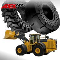 China APEX Wheel Loader Solid Tire for John Deere Vehicle 15.5-25, 17.5-25, 20.5-25, 23.5-25, 26.5-25, 29.5-25, 35/65-33 on sale