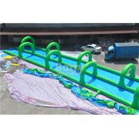 Quality Excited Giant Inflatable Slide , Outdoor Long Green Inflatable City Water Slide for sale