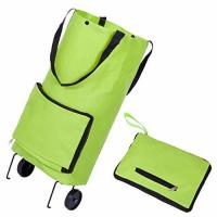 Large Capacity Tugboat Cart Supermarket Household Portable Tugboat Bag with 2 Wheels Tote Shopping Bag Foldable for sale