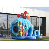 Wholesale Seaworld Fish Moonwalk Inflatable Bouncer With Slide , 8 People Capacity from china suppliers