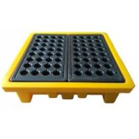 Wholesale Leak Proof 4 Drum Spill Containment Pallet Spill Platform For Drum Storage from china suppliers