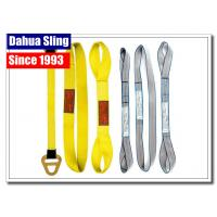 China Customized Logo Harga Webbing Sling , Hoist Lifting Straps Acid Resistance on sale