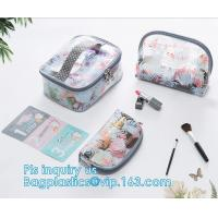 Wholesale wholesale makeup bag travel pvc zipper bag, Organic Plastic PVC Bags Travel Cosmetic Bag seal Toiletry Zip Pouch, drawst from china suppliers