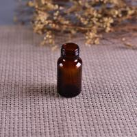Wholesale Old Brockway Glass amber medicine bottle Brown 2 OZ silk screen printing from china suppliers
