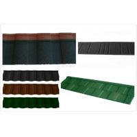 Wholesale Aluminum Coating Stone Lightweight Metal Roof Tiles / circular outdoor roofing shingle from china suppliers