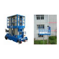 Wholesale Push Around Man Lift With 12m Working Height , Four Mast Hydraulic Elevating Platform from china suppliers